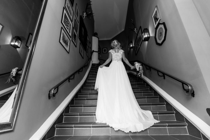 Braut auf einer Hochzeit