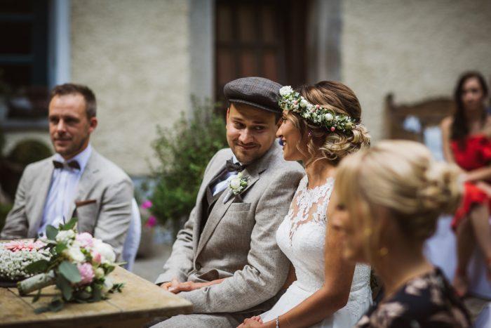 Brautpaar auf Gut Aichet